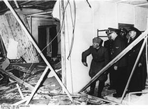 Wolfsschanze 1944 r. wizyta Mussoliniego po zamachu 20 lipca źr. Bundesarchiv, Bild 146-1969-071A-03 - CC-BY-SA, Wikimedia - Commons CC