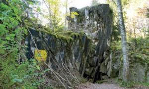 Główne wejście do bunkra Fuhrera - kortytaż główny Wilczy Szaniec